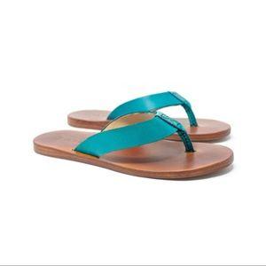 Jivanas Mocha Turquoise on Honey Brown Sandals